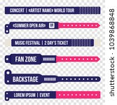 concert bracelets for entrance... | Shutterstock .eps vector #1039868848