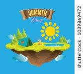 vector summer kids camp concept ...   Shutterstock .eps vector #1039869472