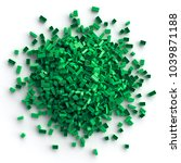 pile of green toy bricks... | Shutterstock . vector #1039871188