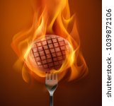 vector illustration of hot... | Shutterstock .eps vector #1039872106