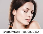 woman cosmetic portrait  nice... | Shutterstock . vector #1039872565