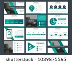 green presentation template... | Shutterstock .eps vector #1039875565