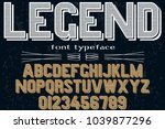 font alphabet typeface... | Shutterstock .eps vector #1039877296