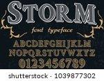 font alphabet typeface... | Shutterstock .eps vector #1039877302