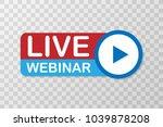 live webinar. flat vector...   Shutterstock .eps vector #1039878208