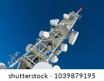 telecommunication tower with... | Shutterstock . vector #1039879195