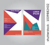 cover design annual report ... | Shutterstock .eps vector #1039882432