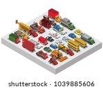 set of isometric 3d cars | Shutterstock .eps vector #1039885606