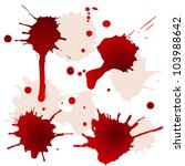 splattered blood stains | Shutterstock .eps vector #103988642