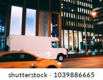 truck of logistic shipping... | Shutterstock . vector #1039886665