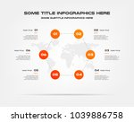 circle infographics with world... | Shutterstock .eps vector #1039886758