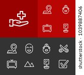 checkbox icon with healthcare ...