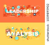 leadership and analysis set of... | Shutterstock .eps vector #1039895902