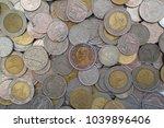 ten baht coin thai baht coin.   ...   Shutterstock . vector #1039896406