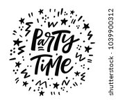 party time lettering poster.... | Shutterstock .eps vector #1039900312