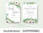 vector floral wedding double... | Shutterstock .eps vector #1039900882
