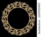 decorative frame. elegant... | Shutterstock .eps vector #1039903495