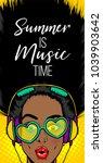 black woman in sunglasses... | Shutterstock .eps vector #1039903642