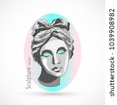 trendy sculpture modern design | Shutterstock .eps vector #1039908982