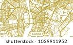 detailed vector map of cairo in ... | Shutterstock .eps vector #1039911952