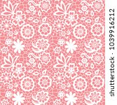 white lace seamless pattern... | Shutterstock .eps vector #1039916212