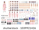 fashionable young girl creation ... | Shutterstock .eps vector #1039921426
