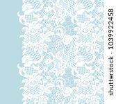 seamless lace border. vector... | Shutterstock .eps vector #1039922458