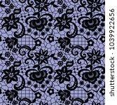 lace black seamless pattern...   Shutterstock .eps vector #1039922656