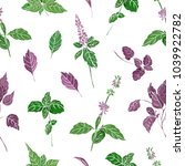 seamless pattern with green an... | Shutterstock .eps vector #1039922782