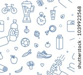 modern seamless pattern with... | Shutterstock .eps vector #1039923568