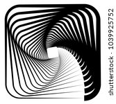 contour lines of overlapping... | Shutterstock .eps vector #1039925752