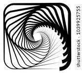 contour lines of overlapping... | Shutterstock .eps vector #1039925755