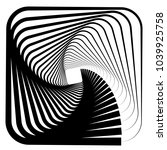 contour lines of overlapping... | Shutterstock .eps vector #1039925758
