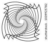 contour lines of overlapping... | Shutterstock .eps vector #1039925782