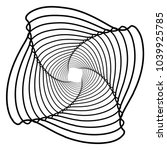 contour lines of overlapping... | Shutterstock .eps vector #1039925785