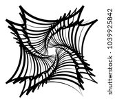 contour lines of overlapping... | Shutterstock .eps vector #1039925842
