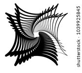 contour lines of overlapping... | Shutterstock .eps vector #1039925845