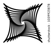 contour lines of overlapping... | Shutterstock .eps vector #1039925878