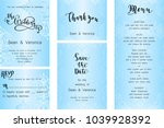 save the date card  wedding... | Shutterstock .eps vector #1039928392