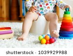closeup of cute little 12... | Shutterstock . vector #1039929988