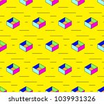 geometric seamless pattern | Shutterstock .eps vector #1039931326