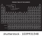 periodic table of elements on a ... | Shutterstock .eps vector #1039931548