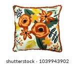 Decorative Floral Throw Pillow...