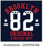 brooklyn original athletic dept.... | Shutterstock .eps vector #1039945186