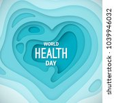 world health day banner. vector ... | Shutterstock .eps vector #1039946032