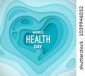 world health day banner. vector ... | Shutterstock .eps vector #1039946032