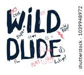 hand writing slogan... | Shutterstock .eps vector #1039948972