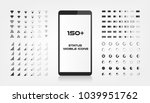 about 150 interface icons.... | Shutterstock .eps vector #1039951762
