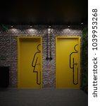 male and female restroom doors  ...   Shutterstock . vector #1039953268