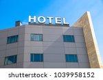 hotel sign  facade | Shutterstock . vector #1039958152
